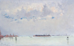 293 André Hambourg Venise, la lagune vers Murano, adjugé 5300 euros