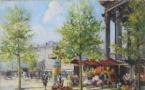52 Georges Lapchine Marché aux fleurs près de la Madeleine, Paris, Adjugé 6500 euros