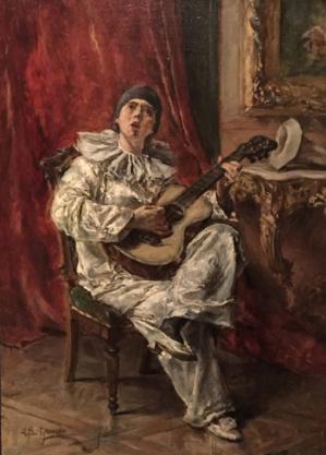 202 Edouard-Leon Garrido Pierrot à la guitare, adjugé 1 500 euros