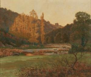 Georges Pioger – Vue en dessous de la Leursonnière, 1902 – H/T