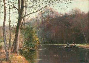 Mary Renard – Pêcheur sur la Sarthe, 1893 – H/T