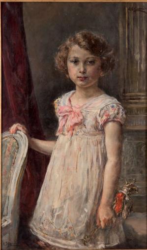 Eduardo Leõn Garrido (1856-1949) - Odile à la marionnette