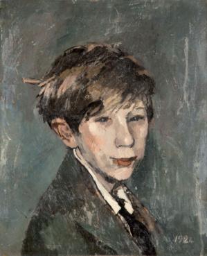 André Mare (1885-1932) - L'ébouriffé portrait de Michel Mare 1924