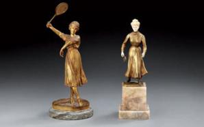 José DUNACH Tenniswoman - Carl KAUBA Joueuse de Lawn-Tennis