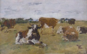 Eugène Boudin - Les vaches