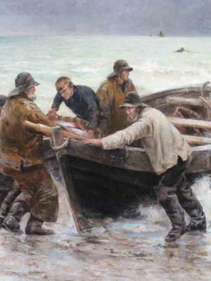 41 Léon Gustave RAVANNE Retour de pêche Cherbourg, Adjugé 10 200
