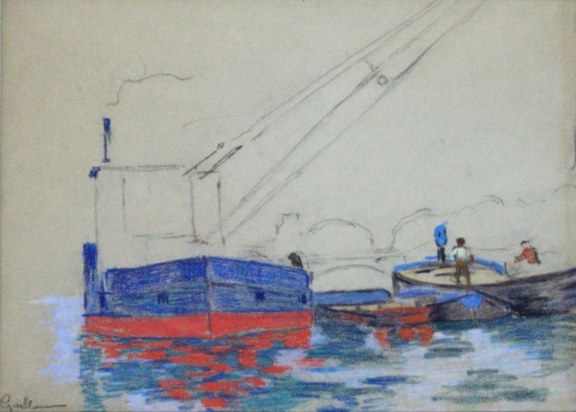 50 Armand Guillaumin Péniches sur la Seine