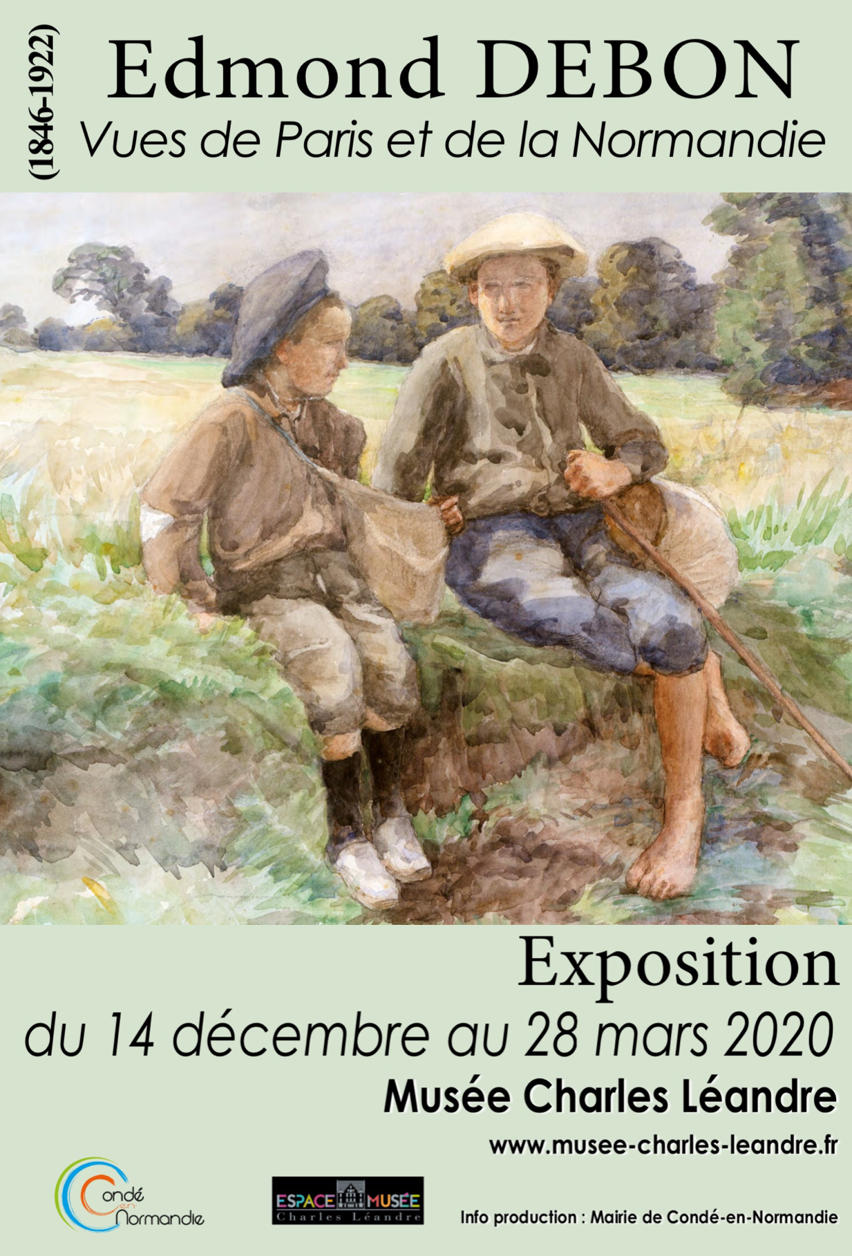 Edmond DEBON «Vues de Paris et de la Normandie» à l'espace Musée Charles Léandre