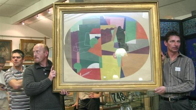 Vu sur Ouest France du 11 novembre 2013 : Une huile sur toile du cubiste Georges Valmier adjugée 200 000 €