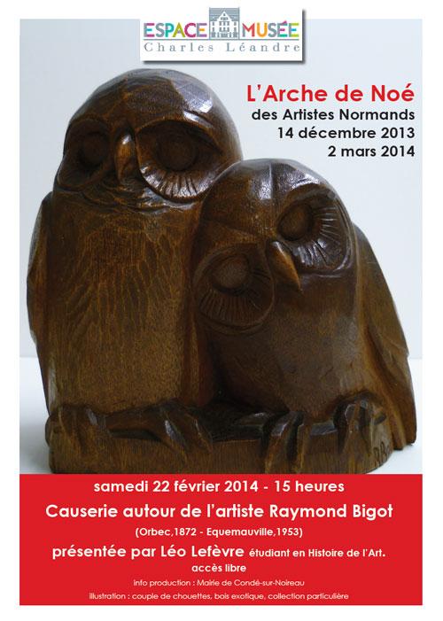 Causerie autour de Raymond Bigot avec Léo Lefèvre samedi 22 février à 15h