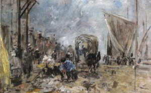 48 Eugène Boudin Scène de marché à Trouville Adjugé 14 800 euros
