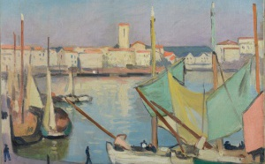 51 Albert Marquet Bateaux à quai dans le port de La Rochelle, Adjugé 92 000 euros
