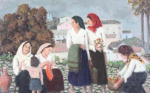 55 Francis SMITH Les paysannes  Adjugé 5 500