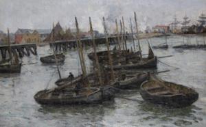 42 Léon-Gustave RAVANNE Flottille de barques de pêcheurs, Adjugé 2750